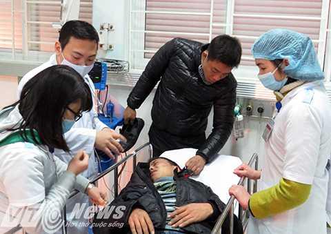 Bệnh nhân bị ngã chấn thương sọ não vùng gáy do rượu