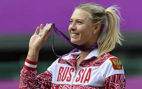 Sharapova từng giành HCB ở Olympic London 2012. (Ảnh: Getty).