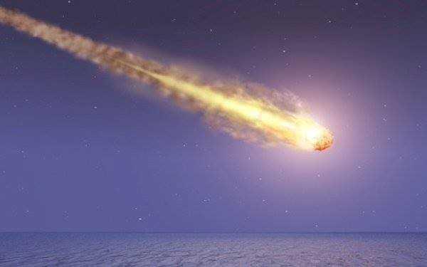 Mô phỏng một thiên thạch rơi xuống trái đất