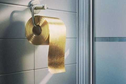 7. Giấy vệ sinh bằng vàng    Không gì giúp bạn khoe của tốt hơn một cuộn giấy vệ sinh trị giá 1,3 triệu USD. Có vẻ như việc vệ sinh hàng ngày cũng sẽ là một vấn đề gây tranh cãi khi mà từng mẩu vàng lá bị vứt đi mỗi khi bạn dùng sản phẩm này. Nhiều người cho rằng thật ngông cuồng khi xả hàng triệu USD xuống cống mỗi năm như vậy.