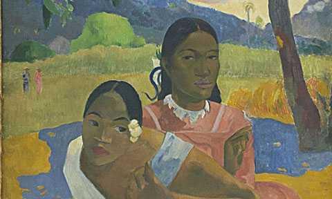 """8. Tranh nghệ thuật    Năm 2015, bức tranh đắt nhất thế giới có tên """"When will you marry"""" được bán với giá xấp xỉ 300 triệu USD. Bức tranh sơn dầu khắc họa hình ảnh hai người phụ nữ này được vẽ năm 1892 bởi họa sĩ Paul Gauguin. Nó từng được trưng bày ở bảo tàng Fondation Beyeler (Thụy Sĩ)."""