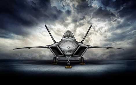 Chiến cơ thế hệ thứ 5 F-22 cũng có một vẻ đẹp không kém phần hấp dẫn
