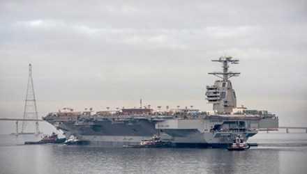 Một trong những vũ khí tối tân đầu tiên mà Quân đội Mỹ chuẩn bị tiếp nhận đó chính là tàu sân bay mới. Theo Wearethemighty, chiếc siêu tàu sân bay lớp Ford đầu tiên sẽ gia nhập hạm đội Mỹ vào năm 2016.