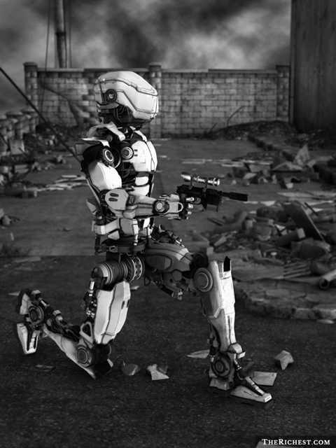 Robot phục vụ chiến đấu sẽ giúp tăng sát thương và giảm thiệu thiệt hại về người