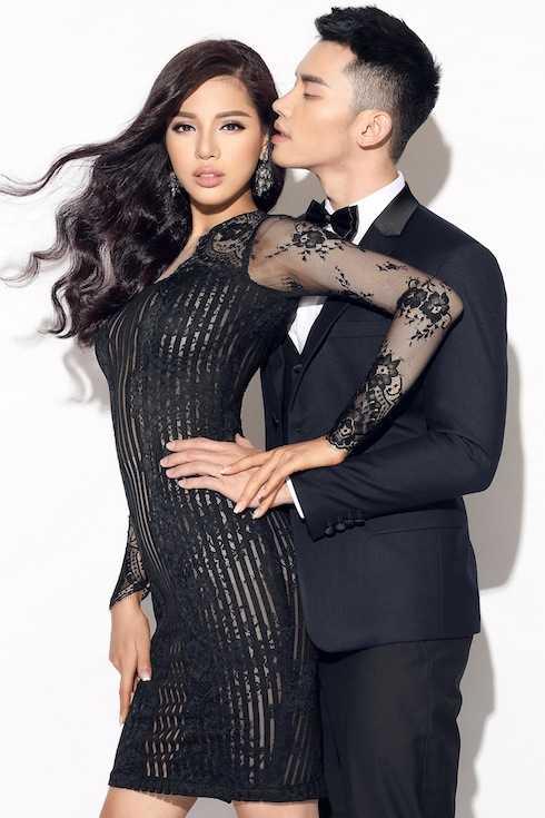 Khả Trang và Mạnh Khang tình tứ trong bộ ảnh Valentine.