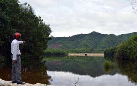Công trình hồ chứa nước Trước Đông là một trong những công trình lịch sử mang dấu ấn của ông Nguyễn Bá Thanh.