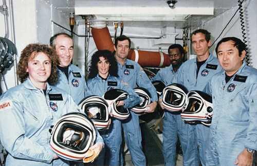 Bức ảnh chụp 7 phi hành gia thiệt mạng trước khi xảy ra vụ nổ tàu con thoi Challenger.