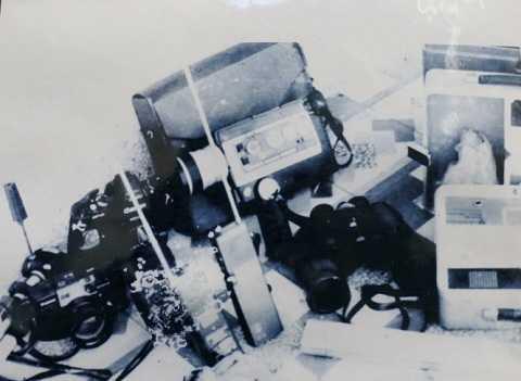 Các thiết bị được sử dụng để đi tìm kho báu trên đảo Hòn Tre - Ảnh: Công an Kiên Giang cung cấp