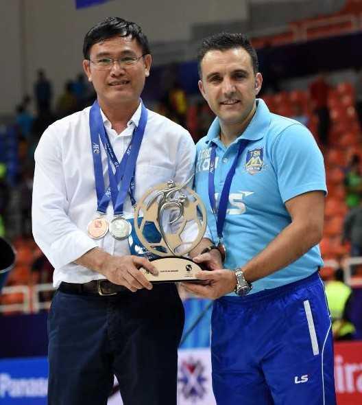 Bầu Tú và HLV Formoso - cặp đôi giúp futsal Việt Nam có những bước phát triển tích cực