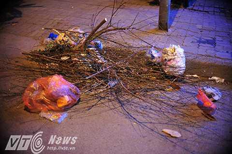 Những sắc xuân tàn trên đường phố Hà Nội.