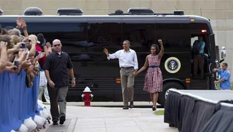Tổng thống Obama lựa chọn Ground Force One cho nhiều chuyến công tác trong nước