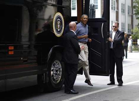 Xe bus này còn có hệ thống tự chữa cháy, bình oxy dự trữ và loại máu của ông Obama để cung cấp khi cần thiết