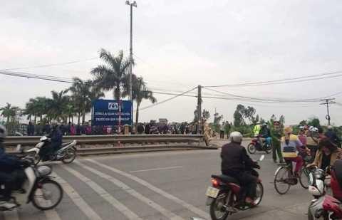 Khu vực đường ngang dân sinh xảy ra vụ tai nạn