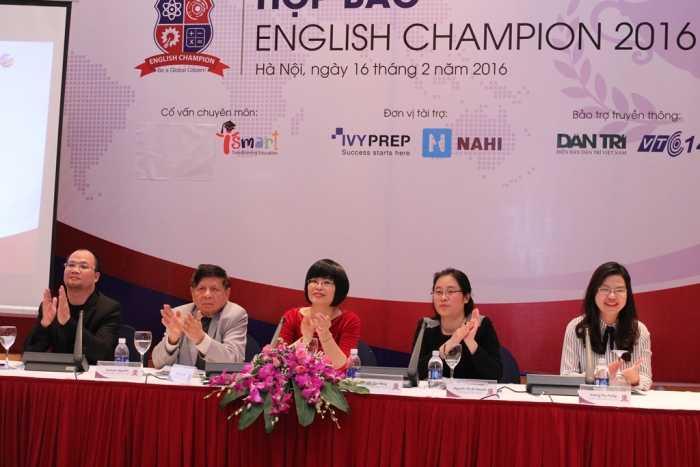 Cuộc thi English Champion 2016 do Trung ương   Hội Khuyến học Việt Nam, Học viện Anh ngữ EQuest và Anh ngữ Việt Mỹ   VATC phối hợp tổ chức.