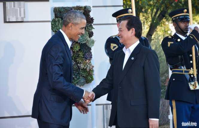 Tổng thống Barack Obama tiếp Thủ tướng Nguyễn Tấn Dũng tại Hội nghị cấp cao ASEAN - Mỹ ở Sunnylands