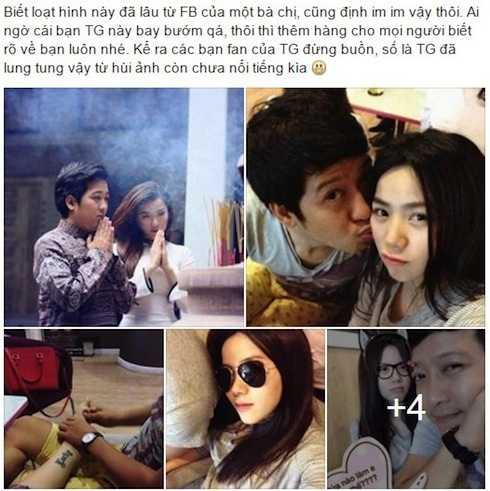 Ảnh thân mật của Trường Giang và 'gái lạ' bị rò rỉ trên facebook.