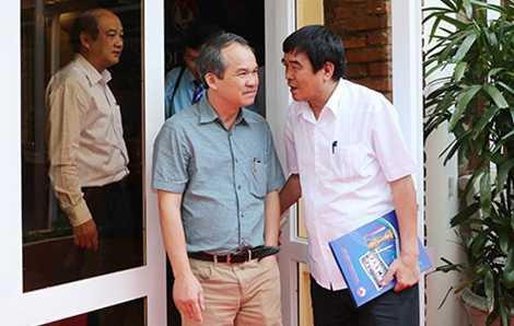 Bầu Đức và phó chủ tịch VFF Nguyễn Xuân Gụ