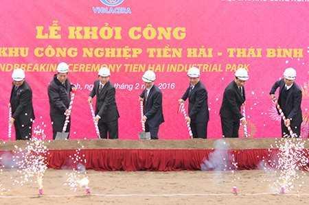 Viglacera khởi công khu công nghiệp Tiền Hải - Thái Bình