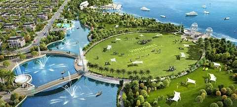 Khu đô thị Vinhomes Central Park sở hữu công viên ven sông Sài Gòn rộng 14ha.