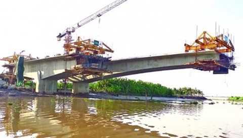 Cầu Niệm - một trong những công trình phục vụ tích cực cho giao thông đô thị Hải Phòng.