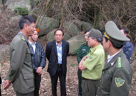 Sáng 25/2, lực lượng chức năng quận Sơn Trà (TP Đà Nẵng), Sở NN&PTNT và Kiểm lâm Đà Nẵng đã có mặt tại hiện trường để kiểm tra sự việc.