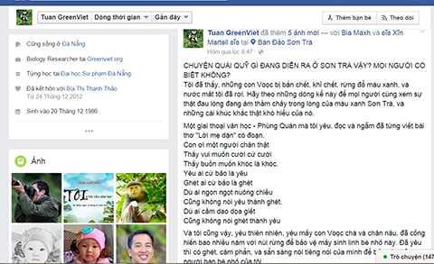 Cộng đồng mạng tiếp tục kêu gọi bảo vệ rừng Sơn Trà