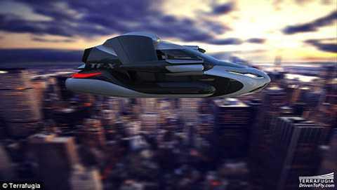 TF-X được cho là phương tiện giao thông cá nhân tương lai giảm ùn tắc hiệu quả - Ảnh: Terrafugia