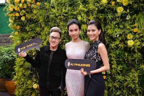 Ái Phương và MC Mỹ Linh, Trung Quân Idol.