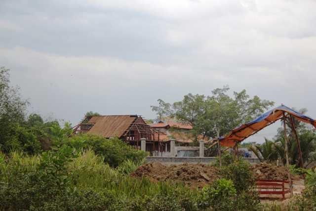 Phần diện tích xây dựng dở dang bị đình chỉ thi công