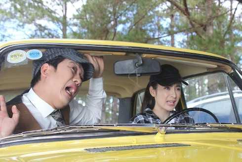 Trường Giang và Angela Phương Trinh trong 'Taxi, em tên gì?'