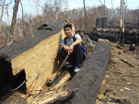 Cả ngàn ha rừng nguyên sinh thuộc dãy Hoàng Liên Sơn cháy trụi trong năm 2009