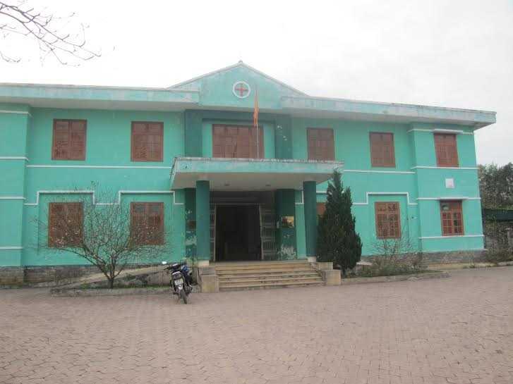 Trạm y tế xã Mỹ Lộc nơi xảy ra vụ việc