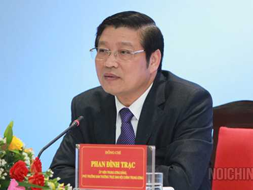 Ông Phan Đình Trạc được Bộ Chính trị phân công làm Trưởng Ban Nội chính Trung ương - Ảnh: Ban Nội chính Trung ương