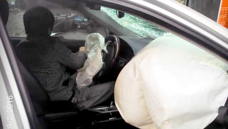 Hình ảnh cắt ra từ video vụ tai nạn