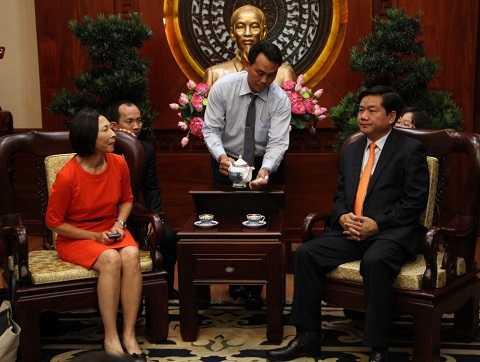 Bà Cheo Hock Kuan mong Bí thư Đinh La thăng tạo cơ hội cho nhàđầu tư nước ngoài được thuận lợi hơn