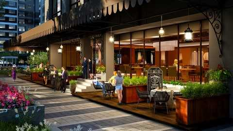 Quán café sang trọng là nơi để cư dân gặp gỡ và giao lưu bạn bè, đối tác.