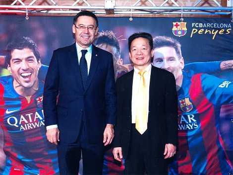 Chủ tịch Barca chụp ảnh cùng chủ tịch Đỗ Quang Hiển