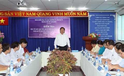Bí thư Đinh La Thăng chủ trì hội nghị, dẫn đầu đoàn kiểm tra Thành ủy