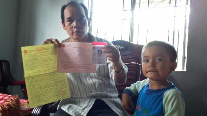 Hợp đồng mua hàng và thẻ thành viên của một cặp vợ chồng tại  huyện Đắk Glei, Kon Tum với Công ty Thiên Ngọc Minh Uy