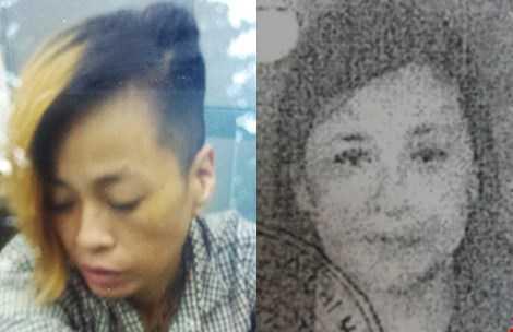 Đoàn Thị Phú lúc bị bắt (trái) và ảnh trong lệnh truy nã (phải). Ảnh: HT