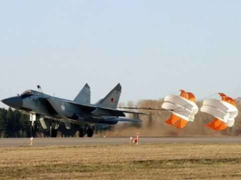 Chiếc MiG-31 phải hạ cánh do gặp vấn đề về cảm biến