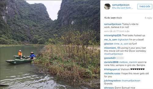 Nam diễn viên Samuel L. Jackson tiếp tục khoe phong cảnh tại Việt Nam