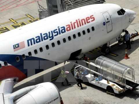 Máy bay của hãng hàng không Malaysia Airlines đỗ tại sân bay quốc tế Kuala Lumpur. (Nguồn: AFP/TTXVN)