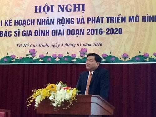Ông Đinh La Thăng phát biểu tại Hội nghị. Ảnh: VNN