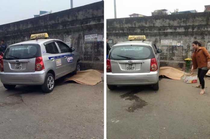 Hiện trường chiếc taxi gây tai nạn khiến 2 người thương vong
