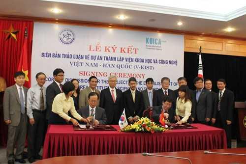 Thành lập Viện Khoa học và Công nghệ Việt Nam - Hàn Quốc. Ảnh: S. T