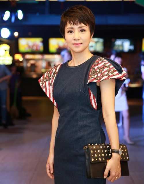 Thúy Hiền trong sự kiện ra mắt phim Nữ đại gia. Ảnh: Bill