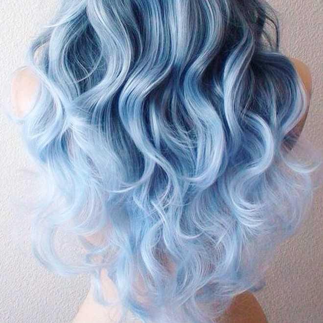 Màu tóc denim được giới trẻ ưa chuộng.