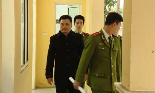 Lê Xuân Giang tại cơ quan điều tra.