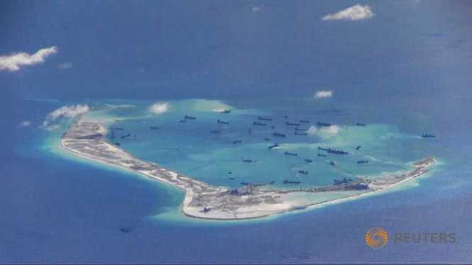Trung Quốc cải tạo trái phép ở đá Vành Khăn trên quần đảo Trường Sa của Việt Nam